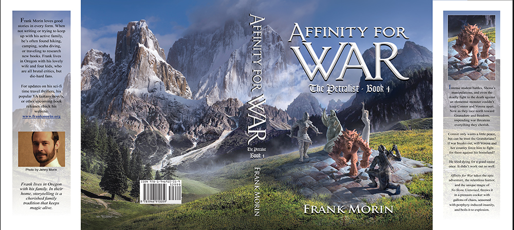"Book cover illustrated by Brad Fraunfelter for author Rank Morin's: ""Affinity for War""."