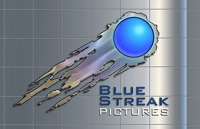 Logo for Blue Streak Pictures designed by Brad Franfelter