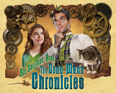 "Poster design for Rie Sheridan Rose' ""The Conn-Mann Chronicals, illustrated by Brad Fraunfelter."
