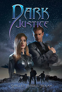 "Book cover illustration by Brad Fraunfelter for ""Dark Justice""."