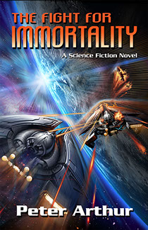"Book cover painting for ""The Fight for Immortality"" by author Peter Arthur"