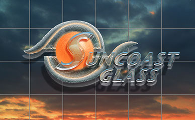 Logo design for Sun Coast Glass