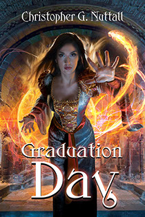 "Book cover illustrated by Brad Fraunfelter for author Christopher G. Nuttall's: ""Graduation Day""."