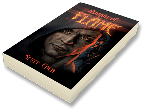 "Book cover design by Brad Franfelter: ""Knight of Flame"" by Scot Eder"
