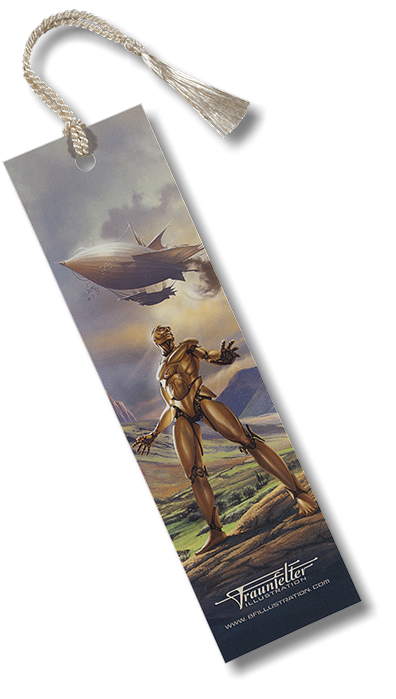 """Marvelous Mechanical Man"" bookmark by Brad Fraunfelter for sale."