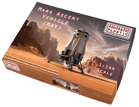 Box shot of new Mars Ascent Vehicle model kit from Fantastic Plastic.