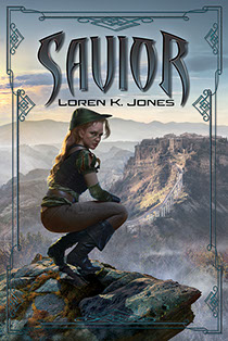 "Book cover illustrated by Brad Fraunfelter for author Loren K. Jones: ""Savior""."