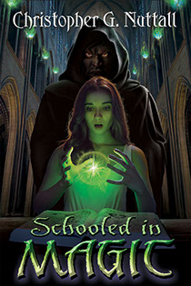 "Cover illustration by Brad Fraunfelter for Christopher G. Nuttall's ""Schooled in Magic"""
