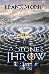"Book cover illustration by Brad Fraunfelter for author Frank Morin: ""A Stone's Throw""."