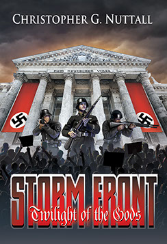 "Book cover illustrated by Brad Fraunfelter for author Christopher G. Nuttall: ""Storm Front""."
