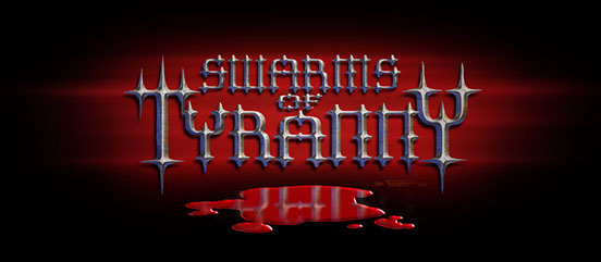 Rock band logo design for Swarms of Tyranny