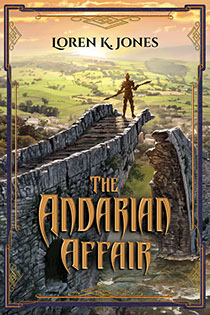 "Book cover illustrated by Brad Fraunfelter for author Loren K. Jones: ""The Andarian Affair""."
