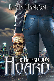 "Book cover illustration by Brad Fraunfelter for Devin Hanson's ""The Halfblood's Hoard""."