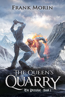 "Book cover illustrated by Brad Fraunfelter for author Rank Morin's: ""The Queen's Quarry""."