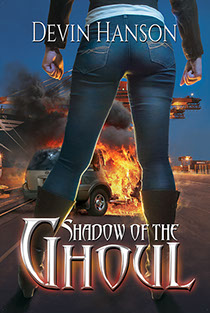 "Book cover illustration by Brad Fraunfelter for Devin Hanson's ""Shadow of the Ghoul""."