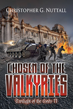 "Cover illustration by Brad Fraunfelter for Christopher G. Nuttall's ""Chosen of the Valkyries"""