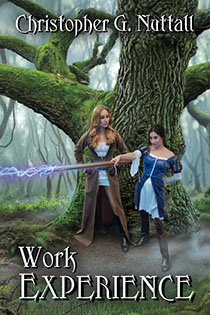 "Book cover illustration by Brad Fraunfelter for ""Work Experience"" by author Christopher G. Nuttall"