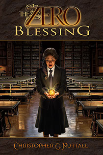 "Book cover illustrated by Brad Fraunfelter for author Christopher G. Nuttall's: ""The Zero Blessing""."
