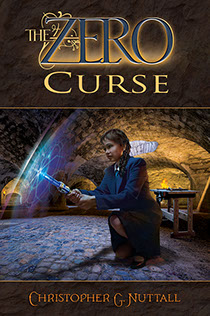 "Book cover illustrated by Brad Fraunfelter for author Christopher G. Nuttall's: ""The Zero Curse""."